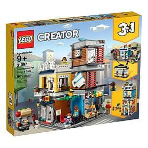 LEGO Creator 3-in-1 Townhouse Pet Shop & Cafe 31097 Store (969 pieces, $63.99)