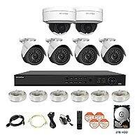 LaView 6 1080P IP Camera Security System PoE 8 CH NVR w/2TB HDD & 4 IP Bullet, 2 IP Dome 2MP Cameras