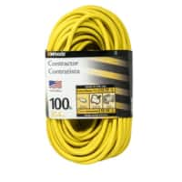 Woods 992555 12-Gauge Extra Heavy Duty 100 ft Extension Cord, Yellow 3 Prong Outdoor Extension Cord Now@Amazon - $23.99