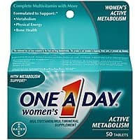 50 Ct. of One-A-Day Womens Active Metabolism Complete Multivitamin Tablets $3.98 *Add-on Item @ Amazon