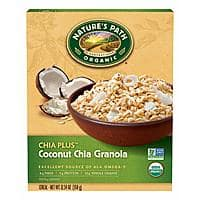 Nature's Path Organic Granola Cereal, Chia Plus Coconut Chia, 12.34 Ounce Box $0.80 or $0.76 with s/s
