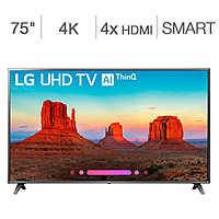"Costco Members: 75"" LG 75UK6570AUA 4K HDR Smart TV w/ AI ThinQ $870 + Free Shipping"