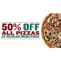 Papa Johns ALL PIZZAS 50% off with GIVEME50 code