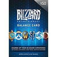 $50 Battle.net Store Gift Card Balance (Digital Delivery) $40.75