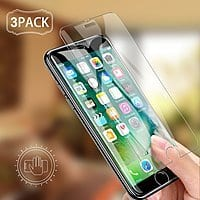 Screen Protector for iPhone X/8/8 Plus/7/7 Plus/6s/6s Plus 3 Pack from $3.08 FS @ Amazon