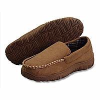 LA PLAGE Men's Anti-Slip Indoor/Outdoor Microsuede Moccasin Slippers $12.89AC