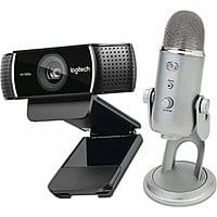 Logitech - C922 Pro Stream Webcam & Yeti Professional USB Microphone Package $  149.99