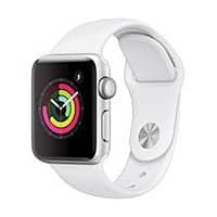 Apple Watch Series 3 GPS - 38mm - Sport Band - Aluminum Case, White $129