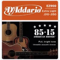 D'Addario EZ900 85/15 Acoustic Guitar Strings - $1.27