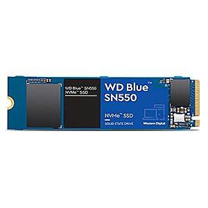 Western Digital 1TB WD Blue SN550 NVMe Internal SSD - Gen3 x4 PCIe 8Gb/s, $84.99
