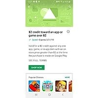 Google play $2 credit towards app or game >$2 ymmv Image