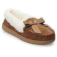 SONOMA Goods for Life Basic Microsuede Moccasin Slippers (4 Colors) $8.49 + ship