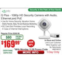 Arlo q plus - one unit at $  169.99, two at $  368.03 (excl taxes)