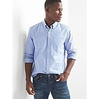 Oxford standard fit shirt  $7.78 + Free Shipping @ GAP