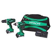 Hitachi KC18DGL 18V Li-Ion Drill & Impact Driver Kit (Grade A Reconditioned) for ~$  98 shipped