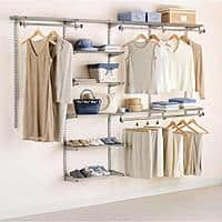 Rubbermaid 3H89 Configurations 4-to-8-Foot Deluxe Custom Closet Organizer System Kit, Titanium - $73.10 + Free Shipment