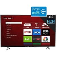 "43"" TCL 43S405 4K Ultra HD Roku Smart TV + $100 Dell Gift Card $330 + Free S/H"