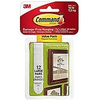 12-Sets of Command Large Picture Hanging Strips $  5 at Amazon *Add-on Item*