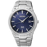 Seiko Men's Solar Stainless Steel Bracelet Watch $66 + Free Shipping at Macy's