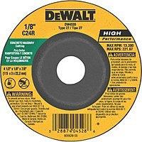 """DeWALT DW4528 4-1/2"""" x 1/8"""" x 7/8"""" Concrete/Masonry Cutting Wheel $1.31 at Amazon"""