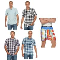 Set of 4 Men's Vans Button Down Shirts + 1-Pair of Novelty Boxers $29 + free shipping **Kohl's Cardholders**