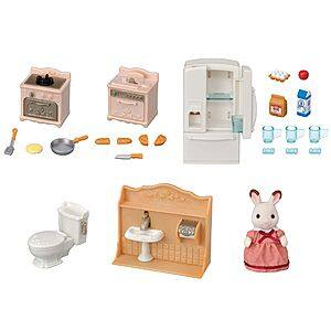 Calico Critters Playful Starter Furniture Set w/ Calico Critter Figure $12.85