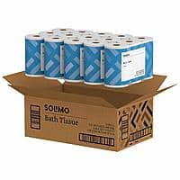 Amazon Brand- Solimo 2-Ply Toilet Paper, 350 Sheets per Roll, 30 Count - Amazon.com - $8.99 or less AC and S&S