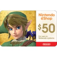 $5 Off $50 Nintendo Gift Card checkout w/ PayPal