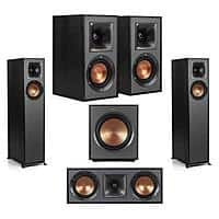 Klipsch Speakers: 2x R-610F + 2x R-41M + R-52C Center + R-100SW Sub $650 & More + Free Shipping