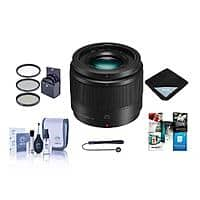 Panasonic 25mm f/1.7 Lumix G Aspherical Lens for Micro 4/3 System - with Bundle $147.99
