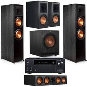 Klipsch Bundle: 2x RP-8000F + 2x RP-600M + RP-504C + SPL-100 + Onkyo TX-NR797 $2199 & More + Free S&H