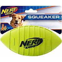Nerf Dog Squeak Rubber Football Dog Toy $3.25