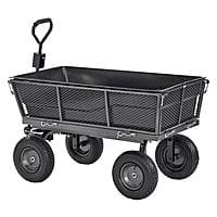 Muscle Carts 1,200 lbs. Capacity Steel Dump Cart with Removable Sides and Full Bed Liner/Cover $75.19