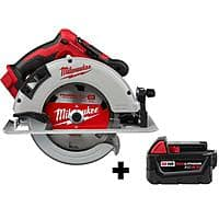 Milwaukee 7-1/4 in. Brushless Cordless Circular Saw with Free M18 5.0 Ah Battery $179