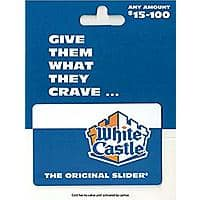 White Castle $50 Gift Card for $40 + Free Shipping