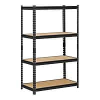 "Edsal 4-Shelf 60"" x 36"" x 18"" Steel Shelving Unit (Black, 3200-Lb Capacity) $47 & More + Free Shipping"