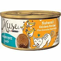 24-Count 3-Ounce Muse Grain-Free Natural Pate Canned Wet Cat Food (Chicken) $11.04 w/ S&S & More