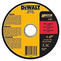 "DeWALT DWA8726L T1 HP Long Life Cut-Off Wheel (6"" x 1/16"" x 7/8"") $1.03 + Free Prime Shipping"