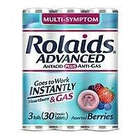 30-Count Rolaids Advanced Strength Antacid Plus Anti Gas Tablets Rolls (Assorted Berry) $0.98 w/ S&S