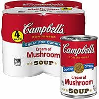 4-Count 10.5oz Campbell's Condensed Soup (Cream of Mushroom) $2.98 AC w/ S&S