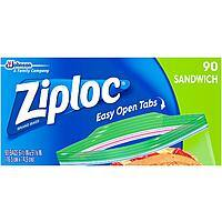 90-Count Ziploc Sandwich Bags $2.12 + Free Prime Shipping