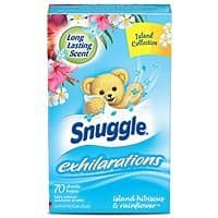 70-Count Snuggle Exhilarations Fabric Conditioner Dryer Sheets (Hibiscus & Rainflower) $0.71 w/ S&S
