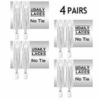 4 Pairs No Tie Shoelaces for Kids and Adults, Elastic Shoe Laces for Sneaker $5.99