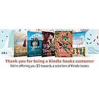 $3 towards a selection of Kindle books, Thank you for being a kindle customer.