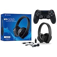 Sony PlayStation Gold Wireless Headset 7.1 Surround Sound PS4 New Version 2018 + Dualshock 4  for $106.20 AC + Free Shipping