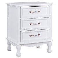 Costway Storage Solid Wood End Nightstand with 3 Drawers $65.95 + Free Shipping