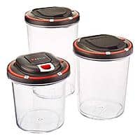 3-Pack Vestia Auto Vacuum Sealing Food Storage Container w/ Motor $8 + Free Shipping