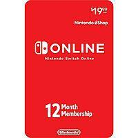 Nintendo Switch Online 12 Month Individual Membership (Digital Code) - $16.95