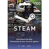 $100 Steam Gift Card (Digital Code) $85