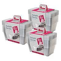 Life Story 5.7-Liter Clear Shoe & Closet Storage Box Container (30 Pack) for $33.99 + FS